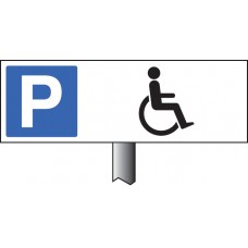 Parking Disabled Symbol Verge Sign
