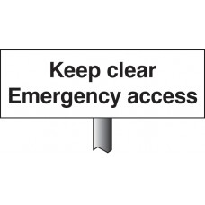 Keep Clear Emergency Access Verge Sign