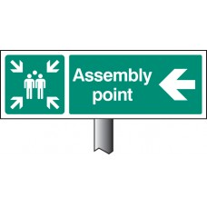 Assembly Point Left Verge Sign