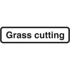 Fold Up Sign - Grass Cutting with Supplementary Text