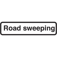 Fold Up Sign - Road Sweeping with Supplementary Text