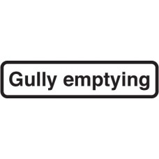Fold Up Sign - Gully Emptying with Supplementary Text