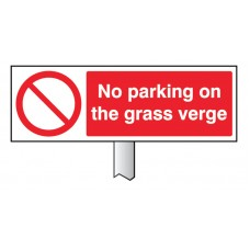 Verge Sign - No Parking On the Grass Verge