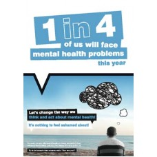 Let?s change the way we think and act about mental health poster
