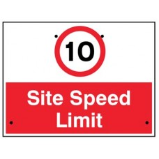 Re-Flex Sign - 10mph Site speed limit