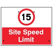 Re-Flex Sign - 15mph Site speed limit