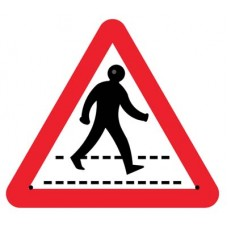 Re-Flex Sign - Pedestrian crossing