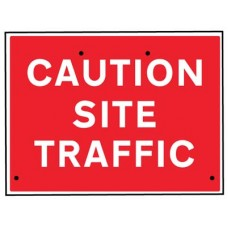 Re-Flex Sign - Caution site traffic