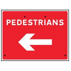 Re-Flex Sign - Pedestrians arrow left