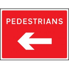 Fold Up Sign - Pedestrians Arrow Left/Right - 600 x 450mm