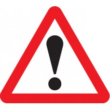 Fold Up Sign - Warning - ! with Text Variant - 750mm Triangle