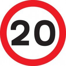 20 mph - Class R2 Permanent - 600mm Diameter