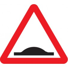 Road Hump Ahead - Class R2 Permanent - 600mm Triangle