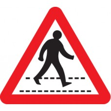 Pedestrians Crossing Ahead - Class R2 Permanent - 600mm Triangle