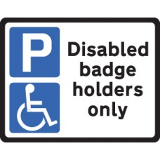 Disabled Badge Holder Class RA1 320 x 250mm