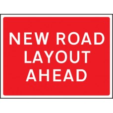 New Road Layout Ahead - Class RA1 - 1050 x 750mm