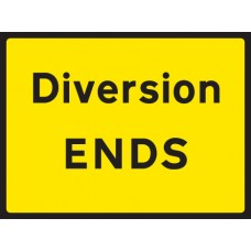 Diversion Ends - Class RA1 - 600 x 450mm