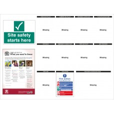 Construction Site Notice - Board - 1430 x 1075mm