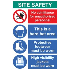 Site Safety Board 600 x 900mm