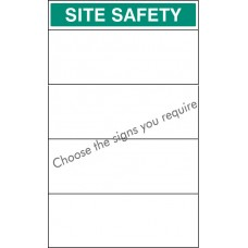 Site Safety Board 600 x 900mm with Select Signs