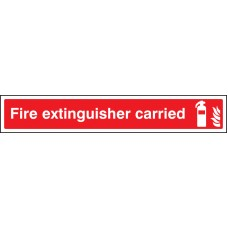 Fire Extinguisher Carried - Window Sticker