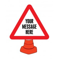 Create Your Own Reflective Cone Sign - 750mm Triangle