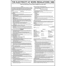 Electricity At Work Regulations 1989 Poster