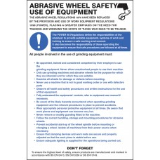 Abrasive Wheel Regulations Poster