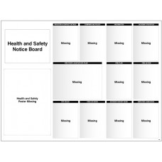 Site Notice - Board with Doc Wallets (Health & Safety) - 5mm PVC - 1430 x 1075mm