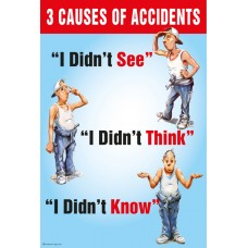 3 Causes of Accidents Poster
