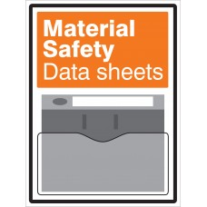 Material Safety Data Sheets Document Holder Sign