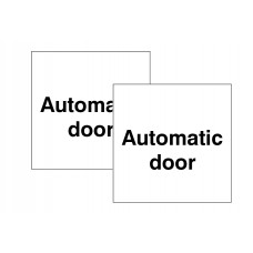 Automatic Door Double Sided Window Sticker