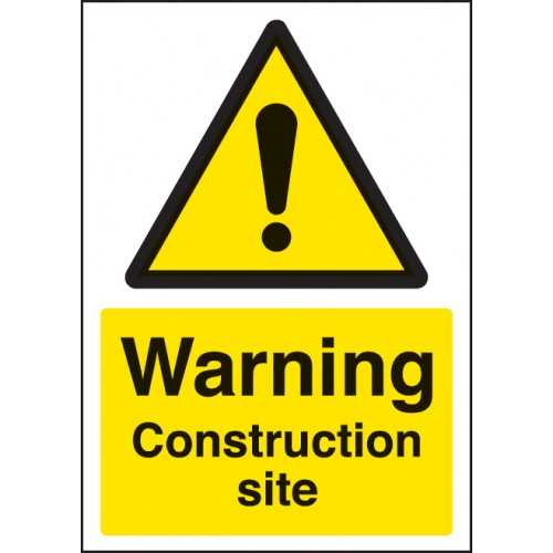 A4 Warning - Construction Site