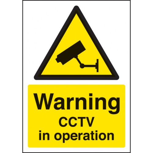 A4 Warning - CCTV in Operation