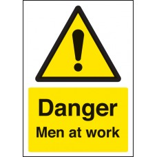A4 Danger Men At Work