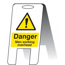 Men Working Overhead - Self Standing Folding Sign
