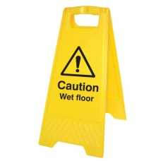 Caution - Wet Floor - Self Standing Folding Sign