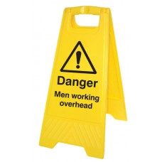 Danger - Men Working Overhead - Self Standing Folding Sign