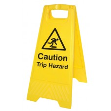 Caution - Trip Hazard - Self Standing Folding Sign