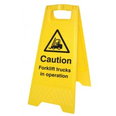 Caution - Forklift Trucks in Operation - Self Standing Folding Sign