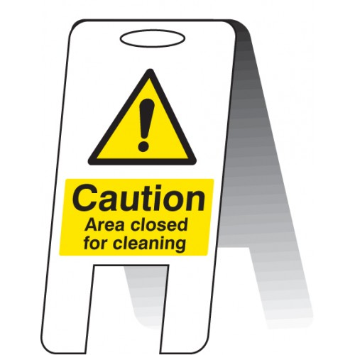 Area Closed for Cleaning - Self Standing Folding Sign