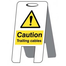 Caution - Trailing Cables - Self Standing Folding Sign