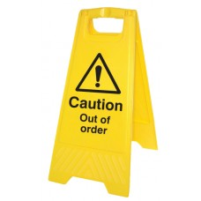 Caution - Out of Order - Self Standing Folding Sign