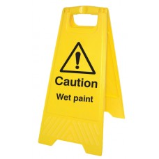 Caution - Wet Paint - Self Standing Folding Sign