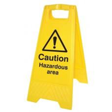 Caution - Hazardous Area - Self Standing Folding Sign