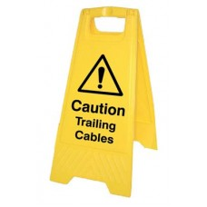 Caution - trailing cables (free-standing floor sign)