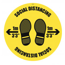 Social Distancing Floor Graphic - 1m / 2m / Generic Distance Options