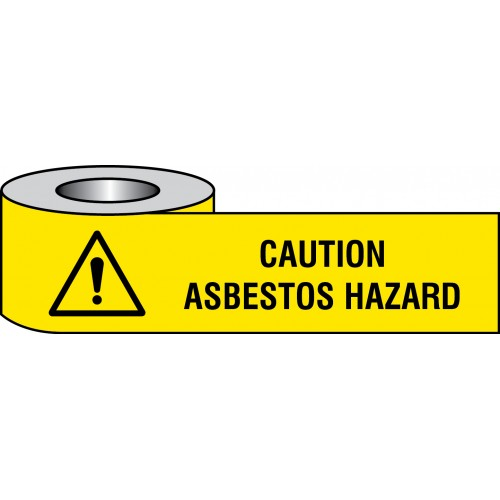 Caution - Asbestos Hazard Barrier Tape - 75mm x250m