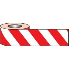Self Adhesive Hazard Tape - 33m x 50mm - Red / White