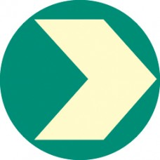 Way Finding - Photoluminescent Floor Marker - 95mm Diameter